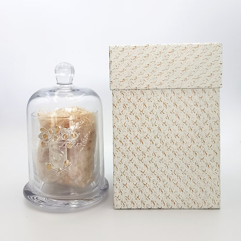 Glass Dome with Scented Bath Salts (350g)