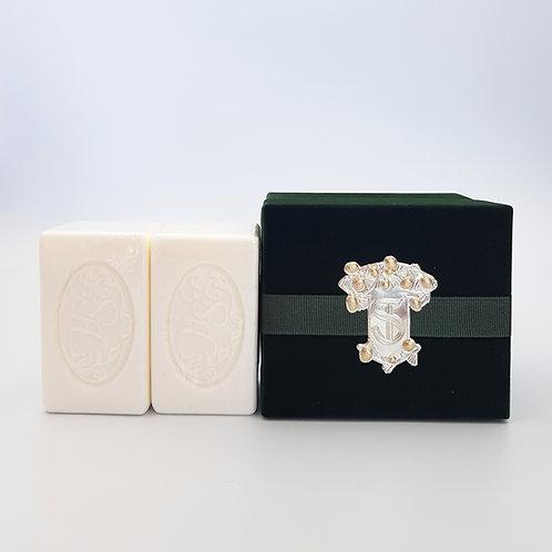 Luxury Soaps (x2) in Dark Green Velvet Box