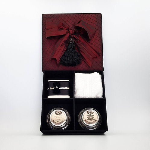 Red Satin Gift Box with Tassel
