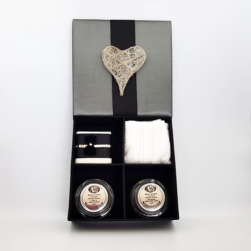Grey Satin Heart Gift Box