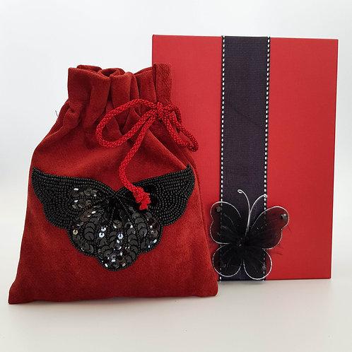 Suede Bag with Bath Crystals Boxed