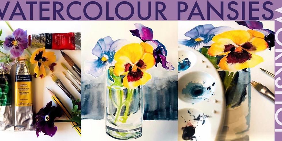 Pansies Watercolour Workshop New Date