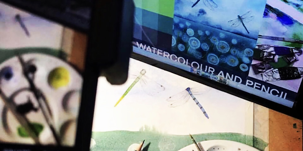 Dragonfly Dawn Watercolour Zoom Workshop