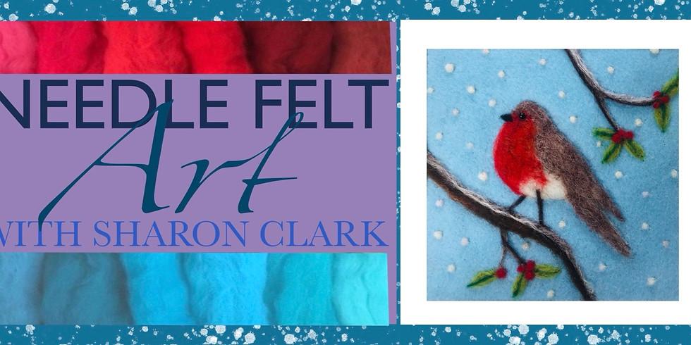 Festive Robin Needle Felt Workshop with Sharon Clark