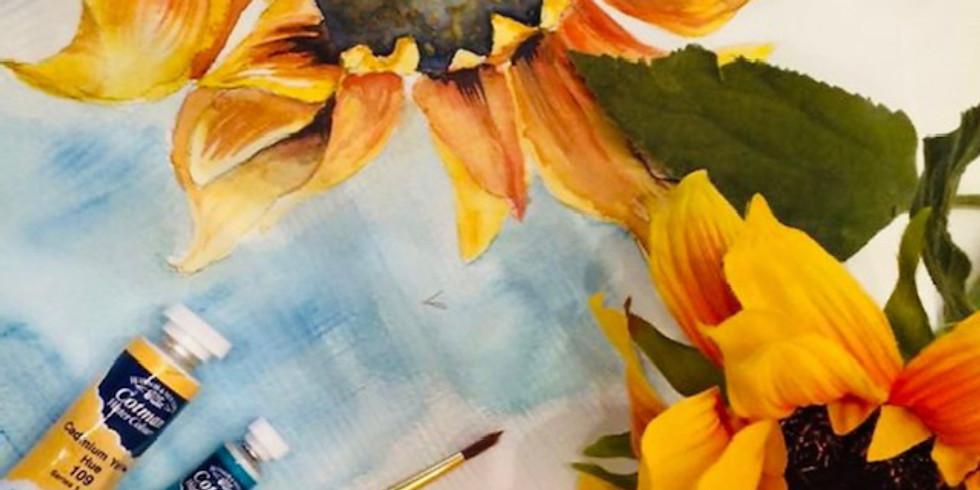 Sunflower Watercolour Workshop