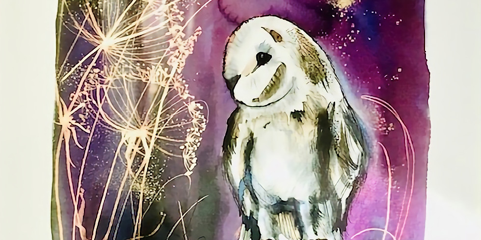 Midnight Owl - Ink and Bleach