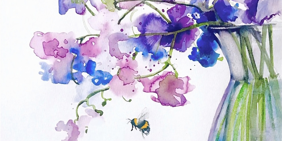 Pick and Paint Sweet Peas Watercolour Workshop