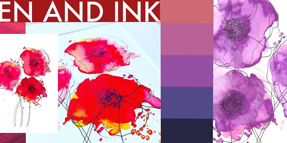 Poppies - Pen and Ink Workshop - New Date!