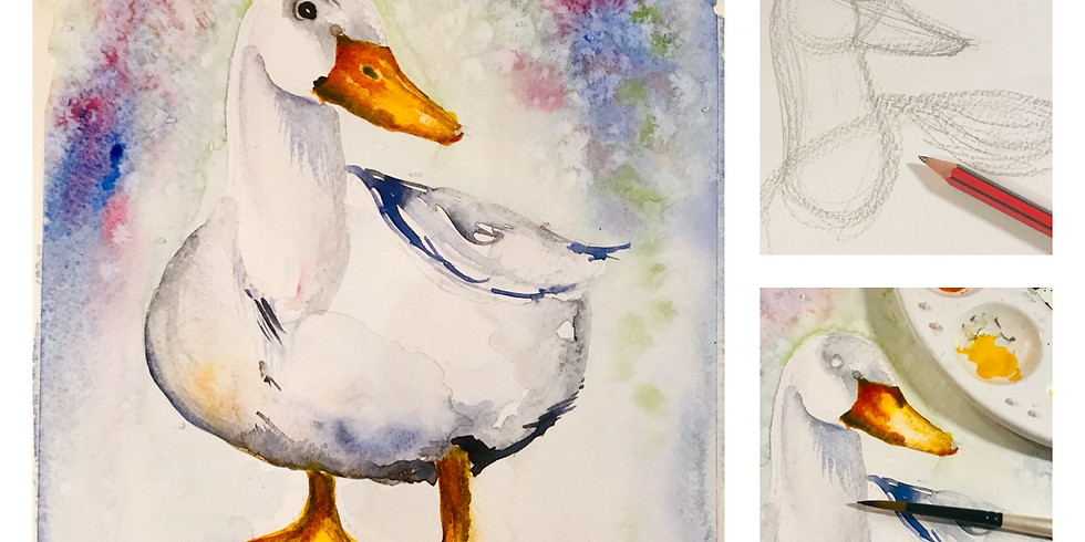 Ducks and Geese - Watercolour