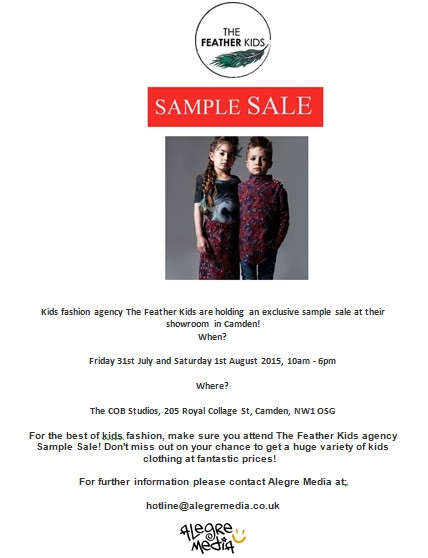 Kids Fashion Sample Sale COMING SOON