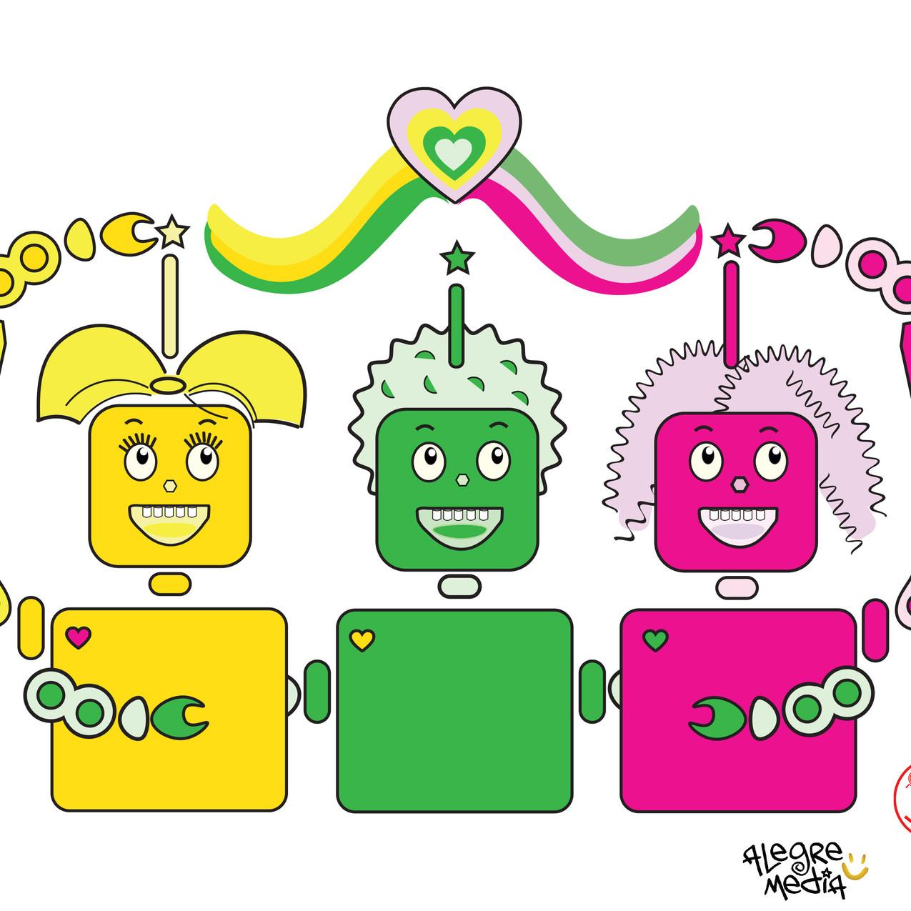 bright alegre robots rocket