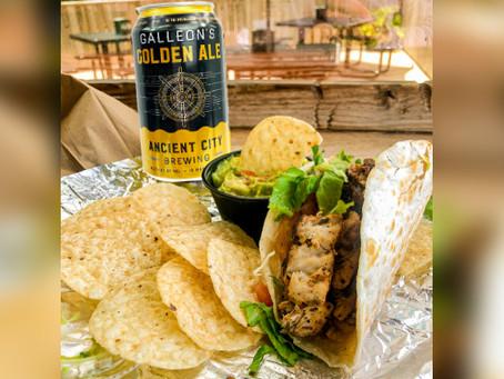 Galleon's Golden Ale Fish Tacos