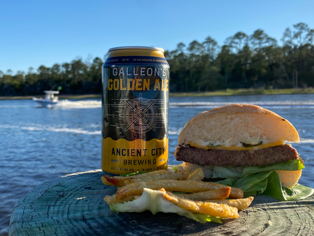 The All-American Burger ft. Galleon's Golden Ale