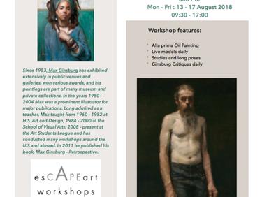 Flyer for Max Ginsburg Workshops