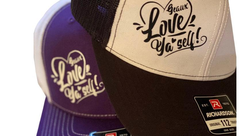 GEAUX LOVE YA'SELF! Snap back caps