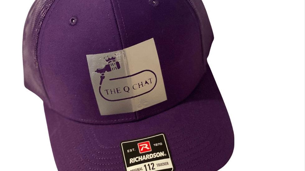 The Q-Chat Podcast Signature Logo Snap back cap