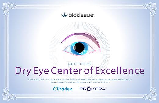 biotissue, prokera, cliradex, dry eye