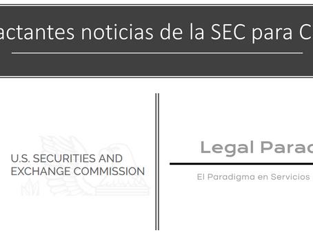 Impactantes noticias de la SEC. Impacto a activos virtuales en México.
