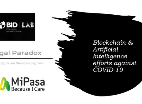 Blockchain & AI efforts against COVID-19