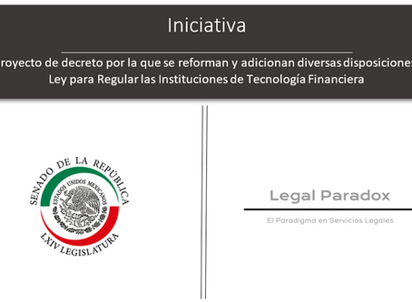 Iniciativa de reforma a la Ley FinTech