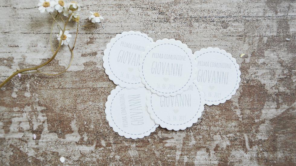 Tags in carta adesiva