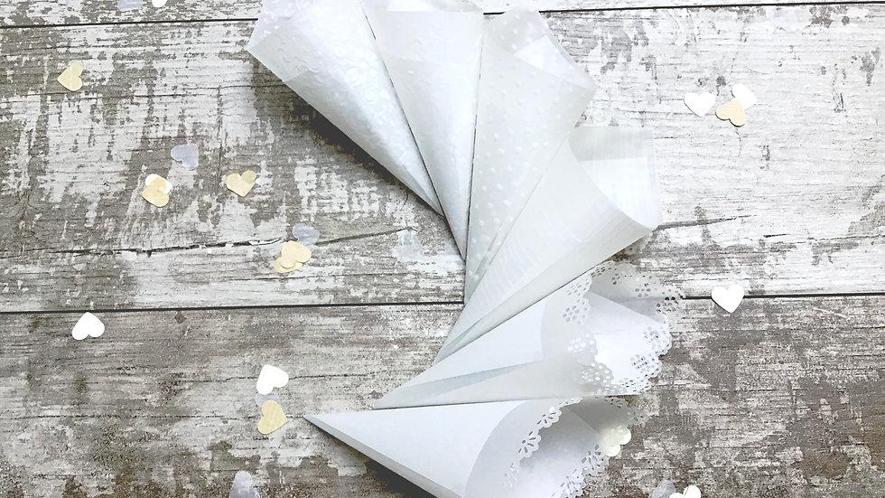Conetti porta riso in delicata carta trasparente