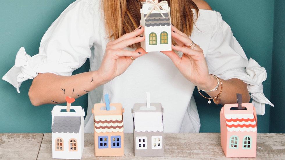 Little House Box - Scatolina segnaposto a forma di casetta