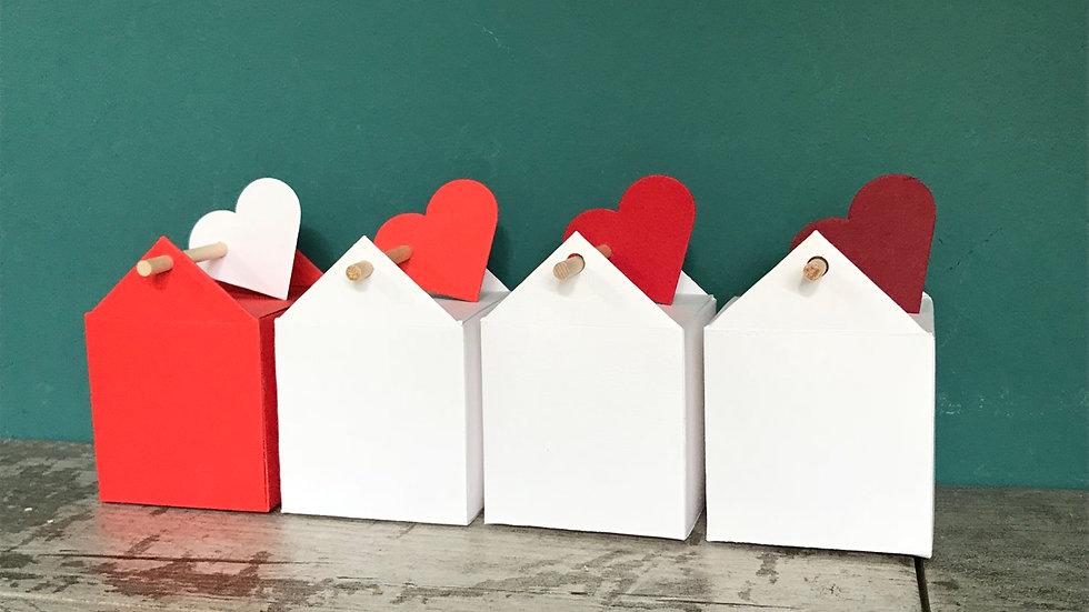 Scatolina House Box casetta grande con bastoncino e decorazione colorata