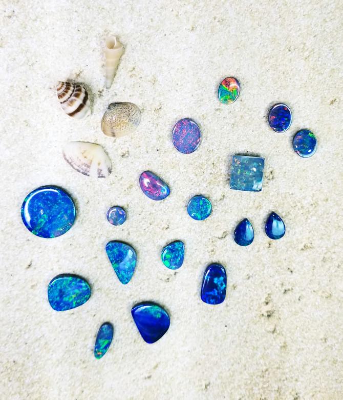 Boulder Opal Doublets