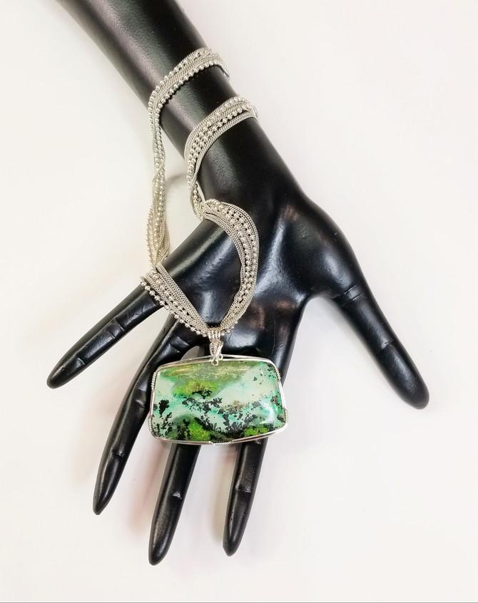 Dendritic Turquoise Pendant