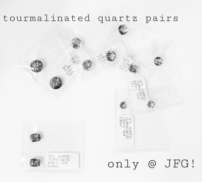 Tourmalinated Quartz Pairs