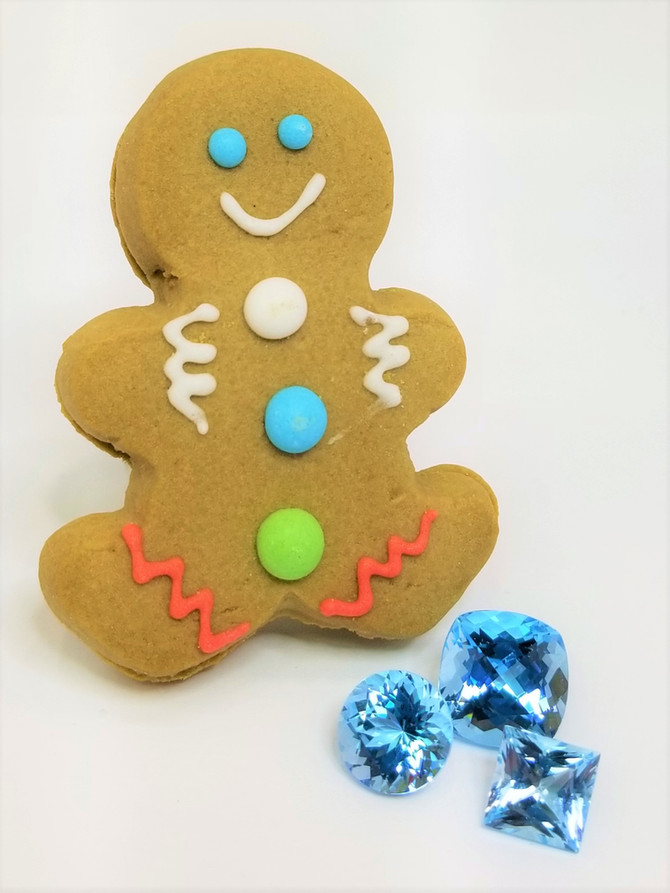 Christmas Faves - Blue Topaz and Gingerbread Men!