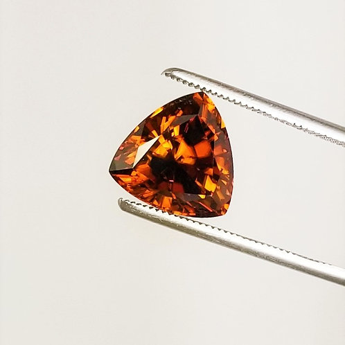 Cognac Zircon 8.42 ct