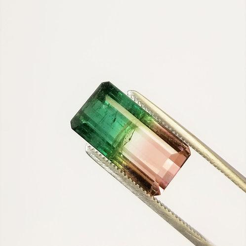 Parti-Color Tourmaline 9.56 ct