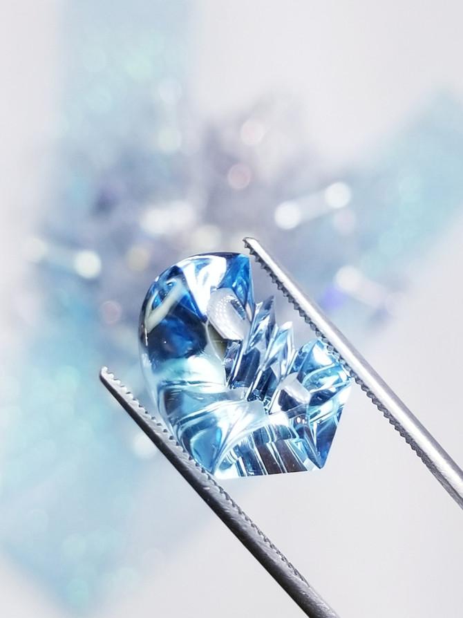 Fantasy Cut Blue Topaz