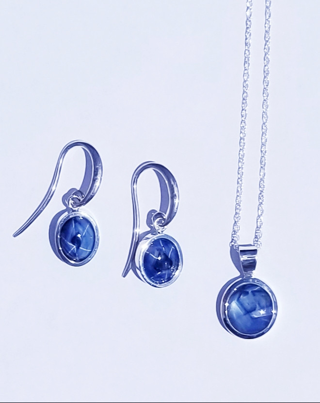 The Kintana Earrings and Necklace