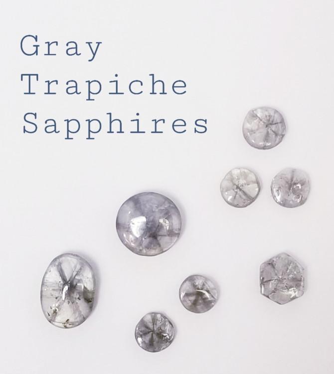 Gray Trapiche Sapphires