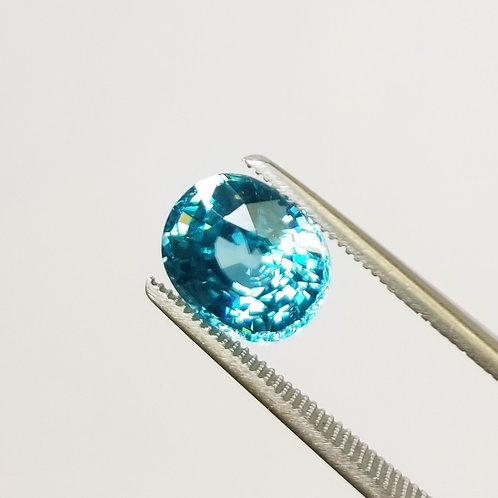 Blue Zircon 5.27 ct
