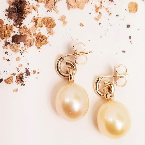 Peach Freshwater Pearl Earrings