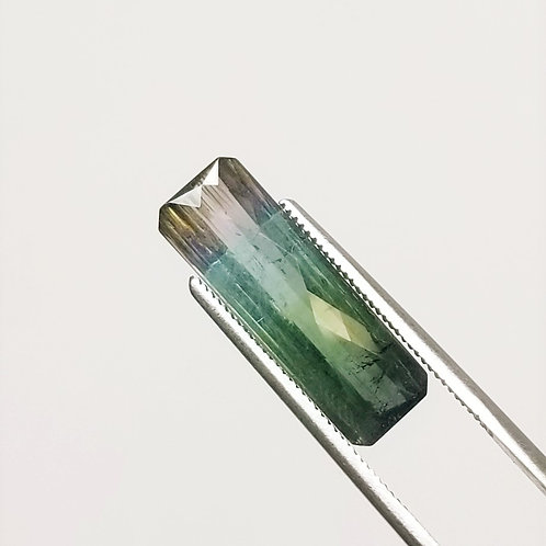Parti-Color Tourmaline 6.66 ct