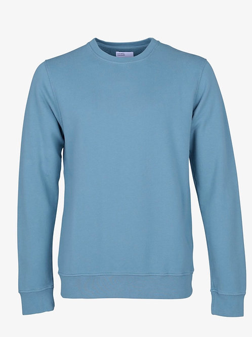 Colourful Standard Classic Crew in Stone Blue
