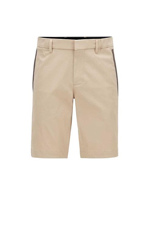 Slim-fit shorts in light beige