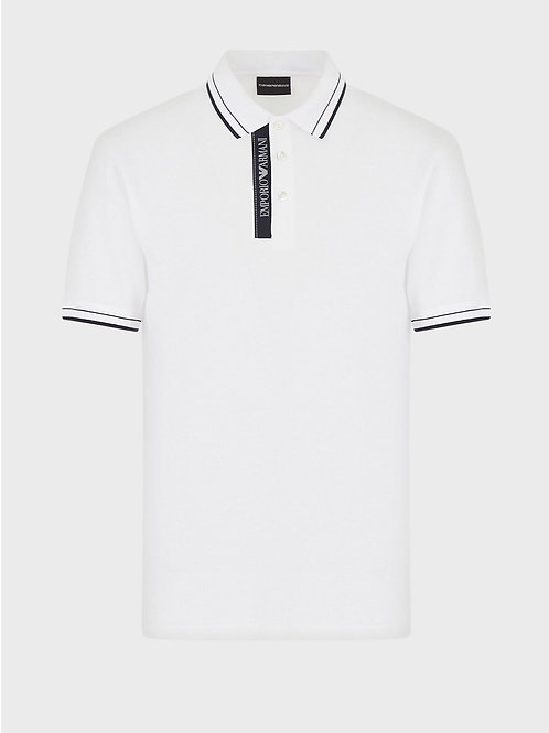 Tape Logo Polo in White