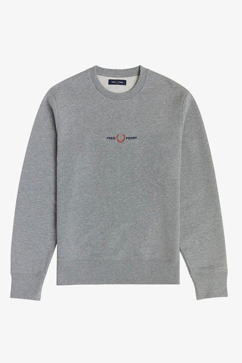 Embroidered Logo Sweat in Grey