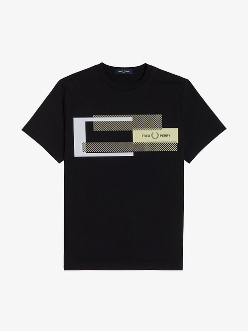 Mixed Graphic T in black