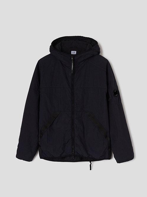 Flatt Nylon Garment Dyed Medium Jacket in Black