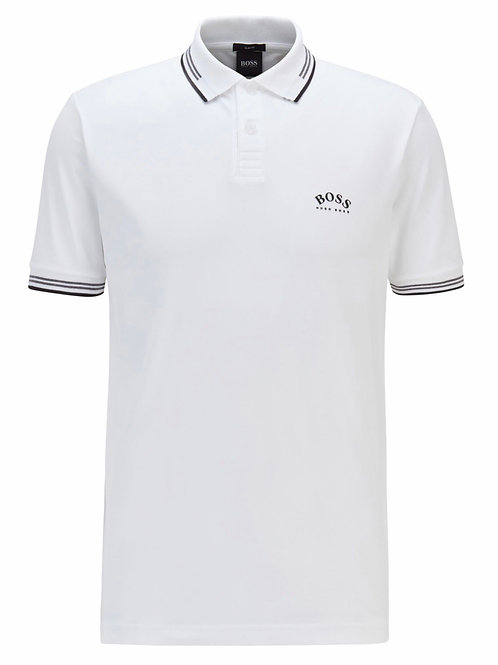 Paul Curved Polo in White