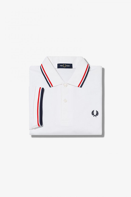 M3600 Twin Tipped Polo White/Red/Navy