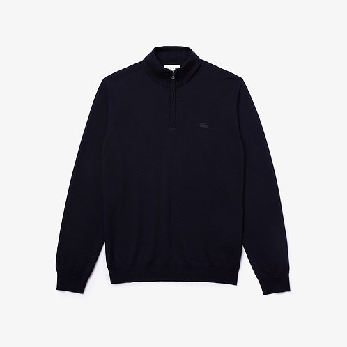 Lacoste Merino Wool Sweater in Navy