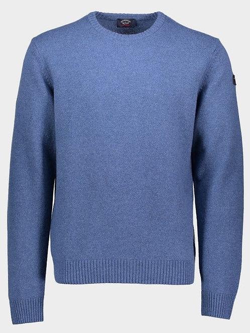 Sleeve Patch Knitwear in Blue